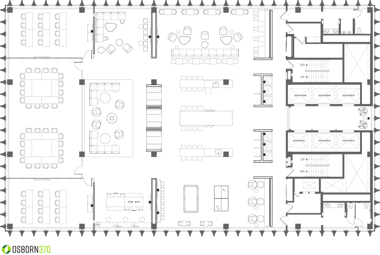 amenity level floorplan